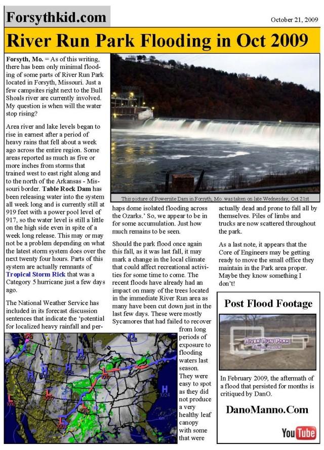 River Run Fall flood blog