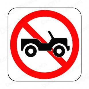 Image result for no jeep icon